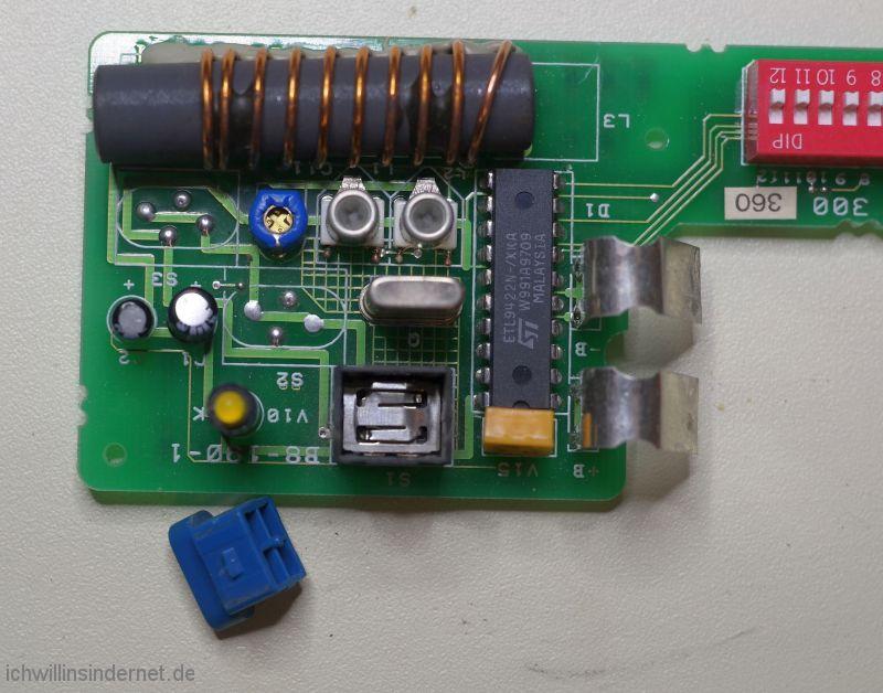 Bosch GTF-27 Schalter geöffnet
