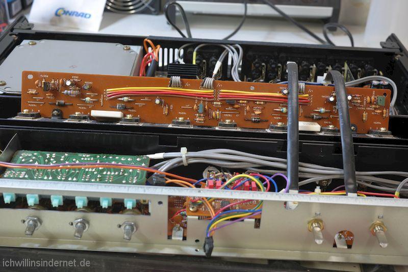 überarbeitete Endstufen Transistor Leiterplatte