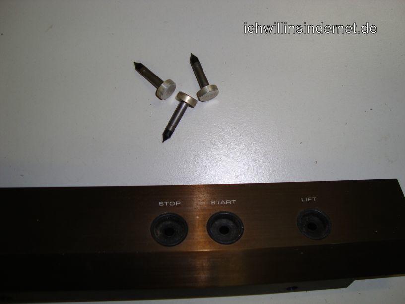 Dual 626 Plattenspieler: ausgebaute Taster