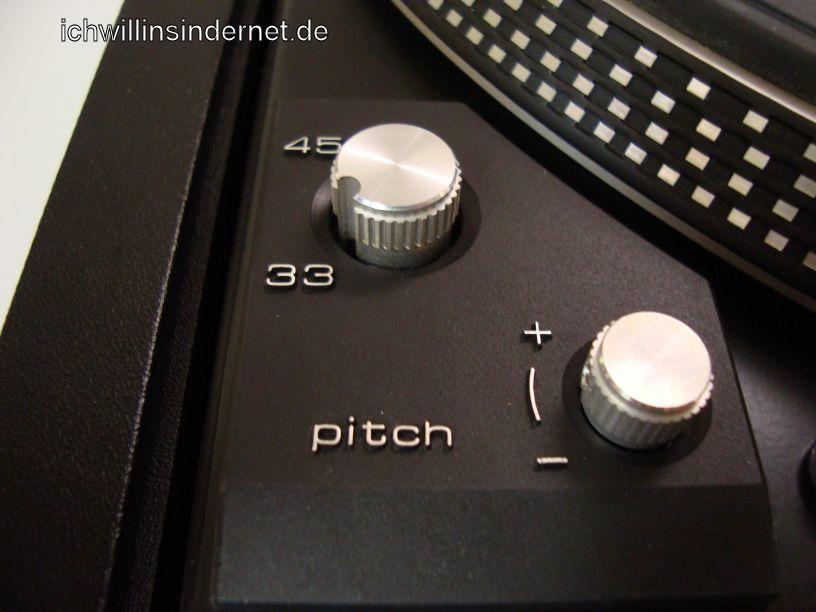 Dual 626 Plattenspieler: Detailansicht Pitch und Geschwindigkeit