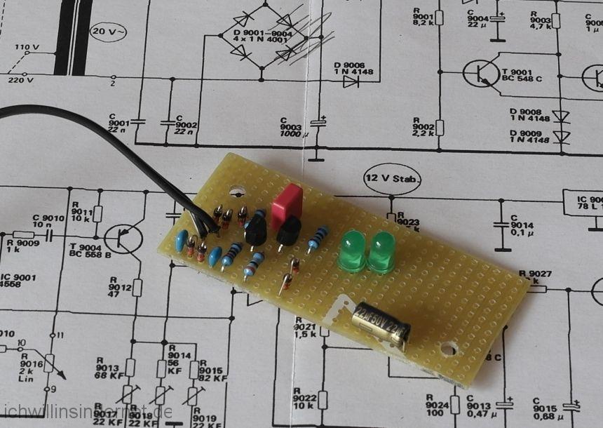 LED Stroboskop: Bestückungsseite