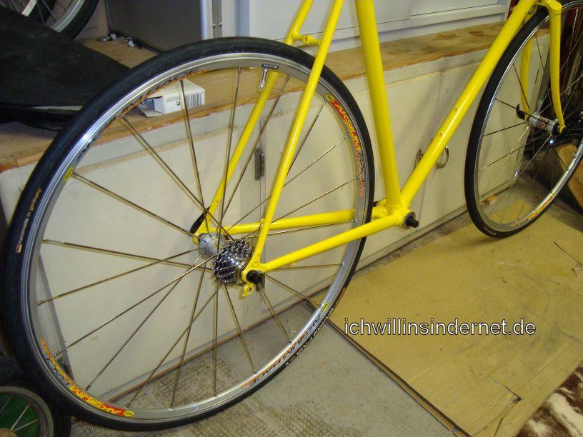 Altes Rennrad: Mavic Aksium Laufräder