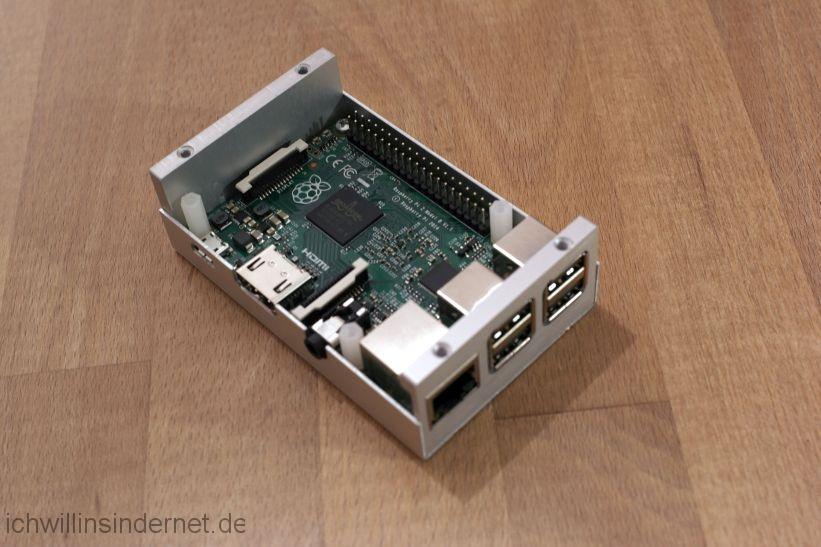 Musikplayer mit Raspberry Pi: im Alu Gehäuse eingebaut