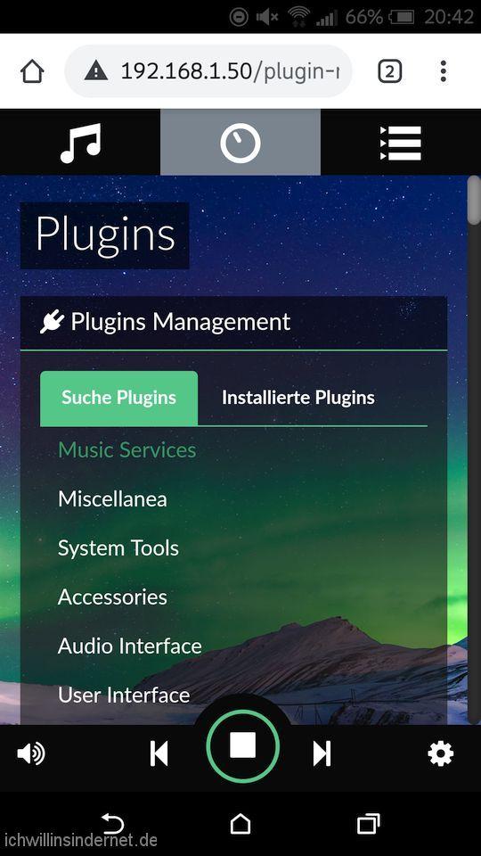 Musikplayer Spotify: Plugins installieren