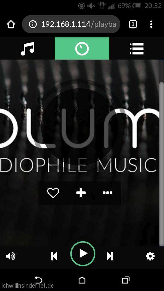 Volumio Musikplayer: Setup abgeschlossen