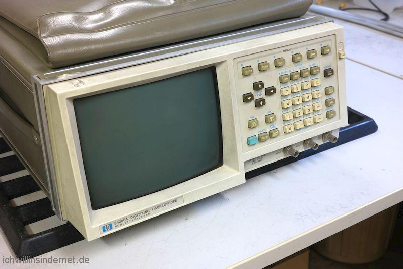 Hewlett Packard 54200A Oszilloskop: Ausgangszustand