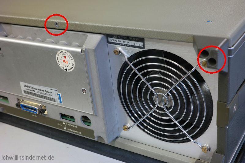Hewlett Packard 54200A Oszilloskop: Deckel abnehmen