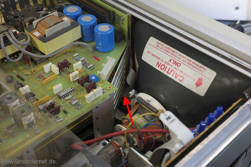 Hewlett Packard 54200A Oszilloskop: Anschluss Tastatur