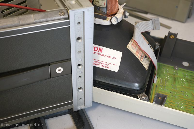 HP 54200A Oszilloskop: Frontplatte Bildröhre Tastatur