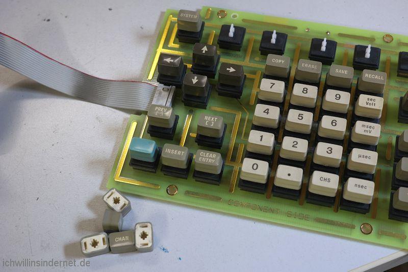 HP 54200A Oszilloskop: Tastatur Tasten