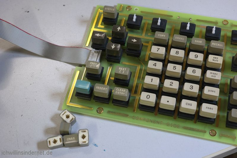 Hewlett Packard 54200A Oszilloskop: Tastatur Tasten