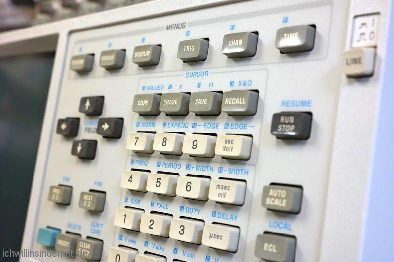 Hewlett Packard 54200A Oszilloskop: Tastatur