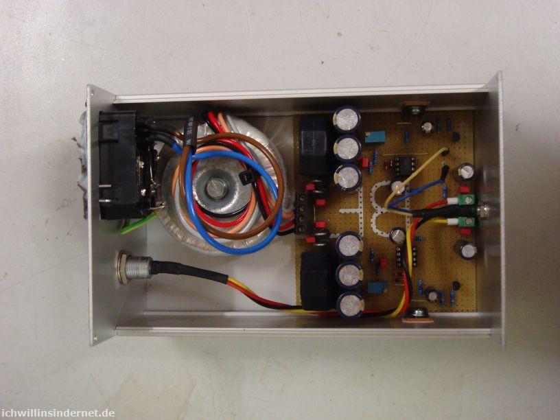 M3 Kopfhörerverstärker: Netzteil verdrahtet