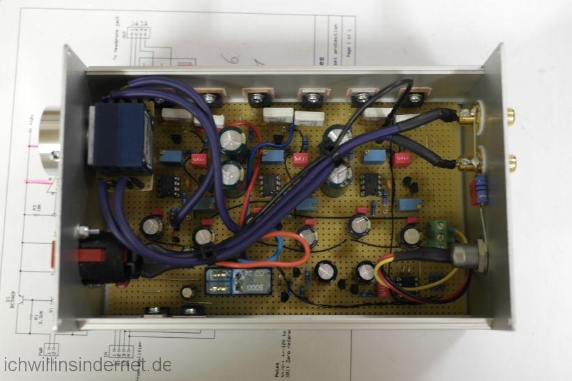 M³ Kopfhörerverstärker mit Schutzschaltung: Kopfhörerverstärker ist wieder zusammengebaut
