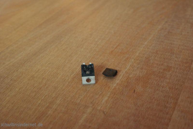 Marantz 4300 Quadro Receiver: gesprengter Gleichrichter