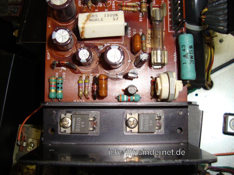 P800 alte Transistoren und alter Lastwiderstand