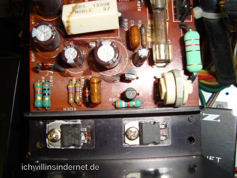 Marantz 4300 Quadro Receiver: P800 neue Transistoren und neuer Lastwiderstand