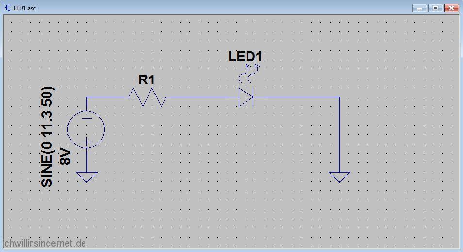 Umbau auf LED Beleuchtung Schaltplan mit einer LED