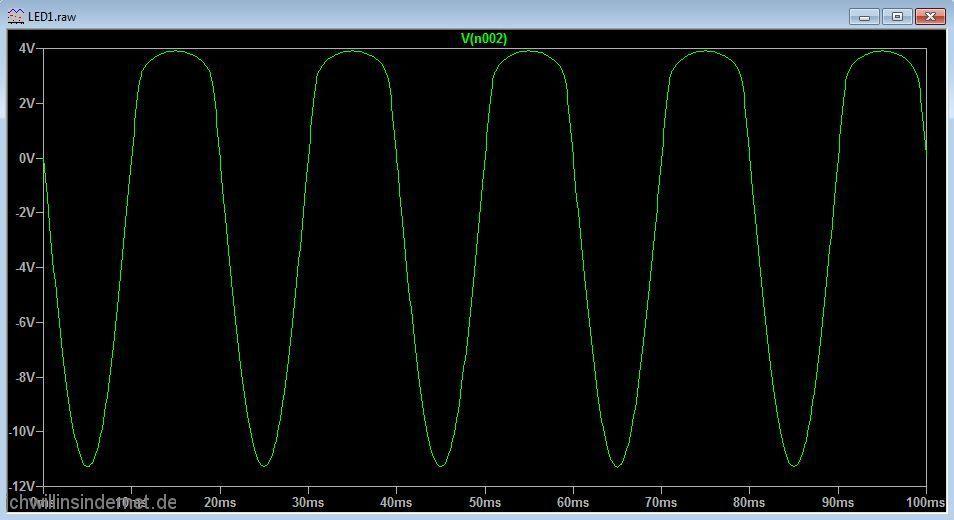 Umbau auf LED Beleuchtung Simulation mit einer LED