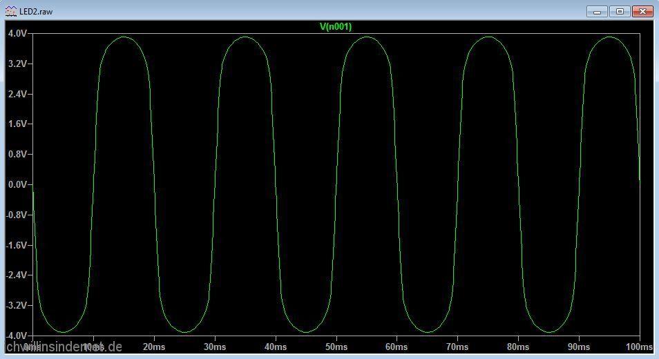 Umbau auf LED Beleuchtung Simulation mit zwei LEDs