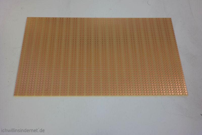 Umbau auf LED Beleuchtung Streifenrasterplatine