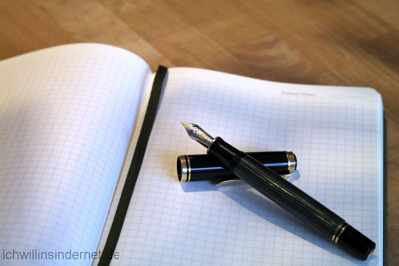 Pelikan M800: Füller geöffnet