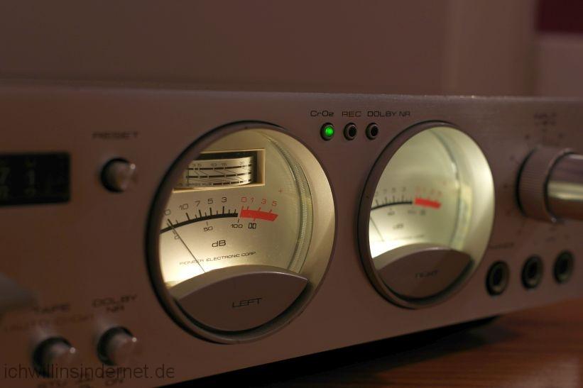 Pioneer CT 3000: VU-Meter