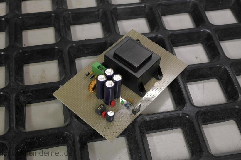 Rauscharmes Netzteil für den Raspberry PI mit Hifiberry: bestückte Platine