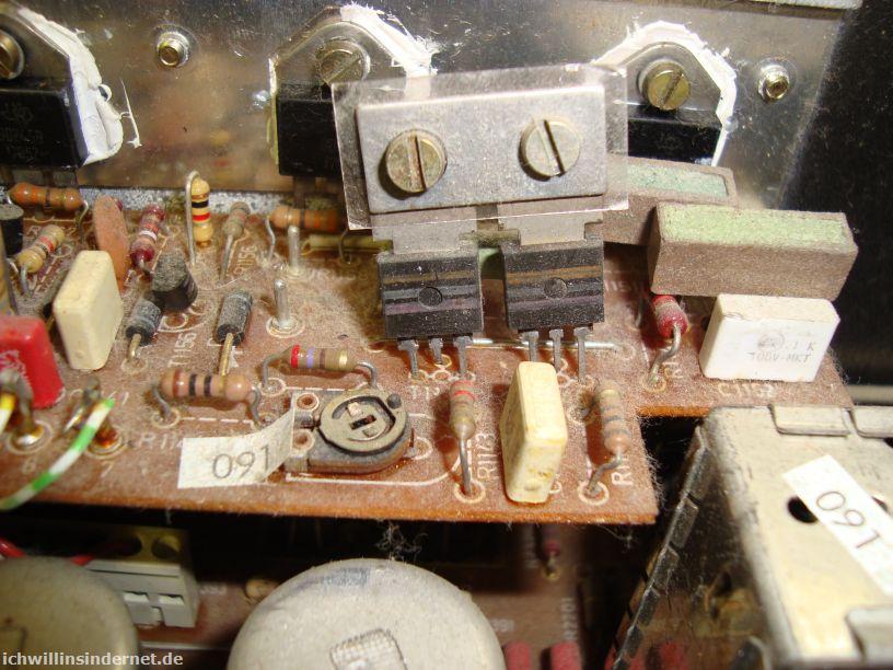 Saba 9260: schiefe Bauteile