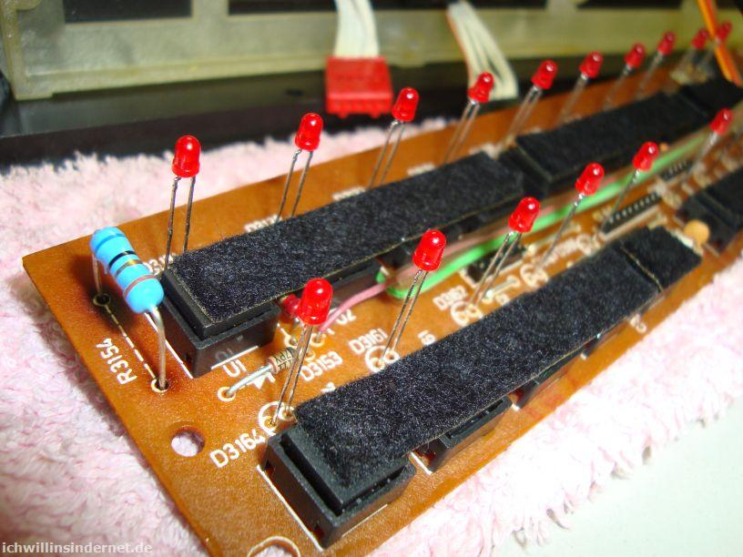 Saba 9260: neuer Widerstand R3154, neue LEDs