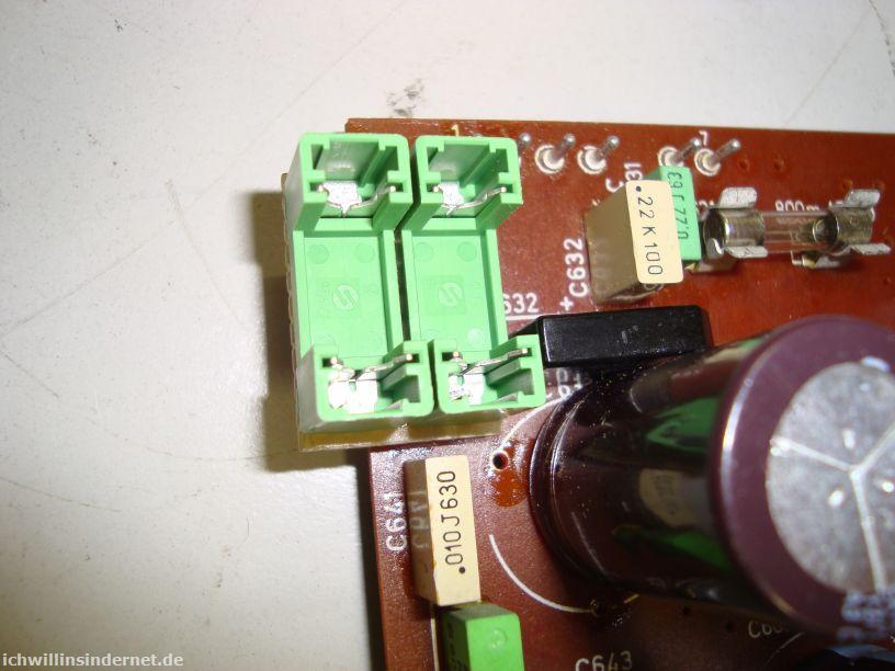 Saba 9260: Ersatz für die Sicherungs-Widerstände R601 und R641