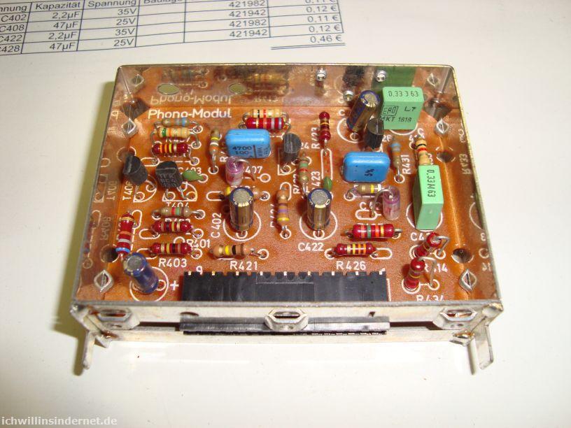 Saba 9260: Phono-Modul