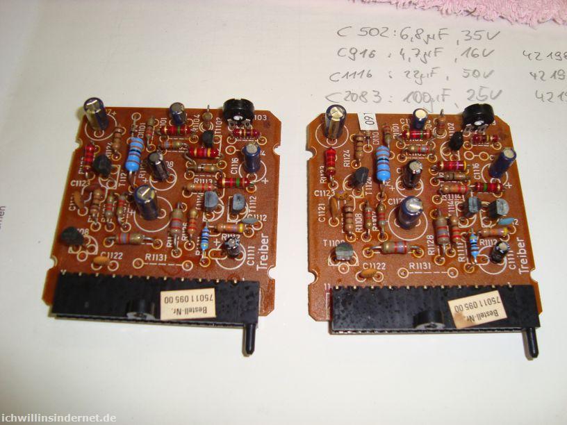 Saba 9260: Treiber-Module