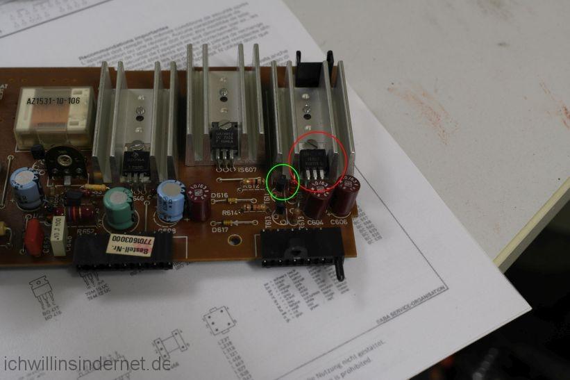 schwarzer Saba 9260: repariertes Netzteil