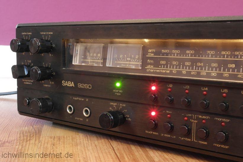 schwarzer Saba 9260: Abstimminstrumente
