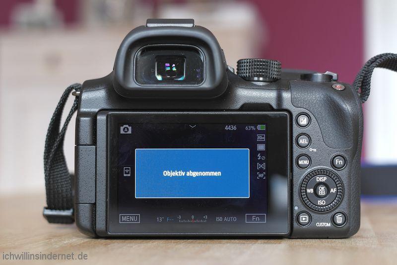 Objektiv Samsung NX S1855CSB reparieren Objektiv abgenommen