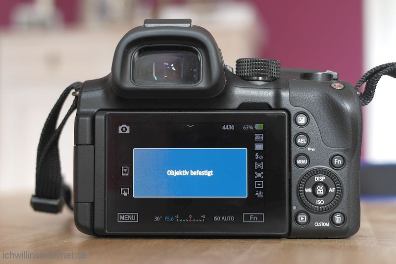 Objektiv Samsung NX S1855CSB reparieren Objektiv befestigt