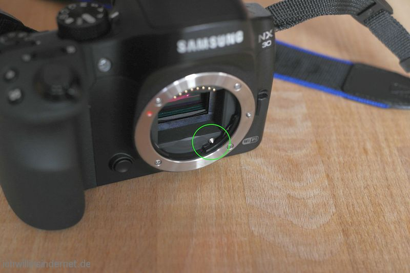 Objektiv Samsung S1855CSB Objektiverkennung