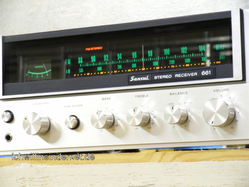 Sansui 661 Receiver: fertig