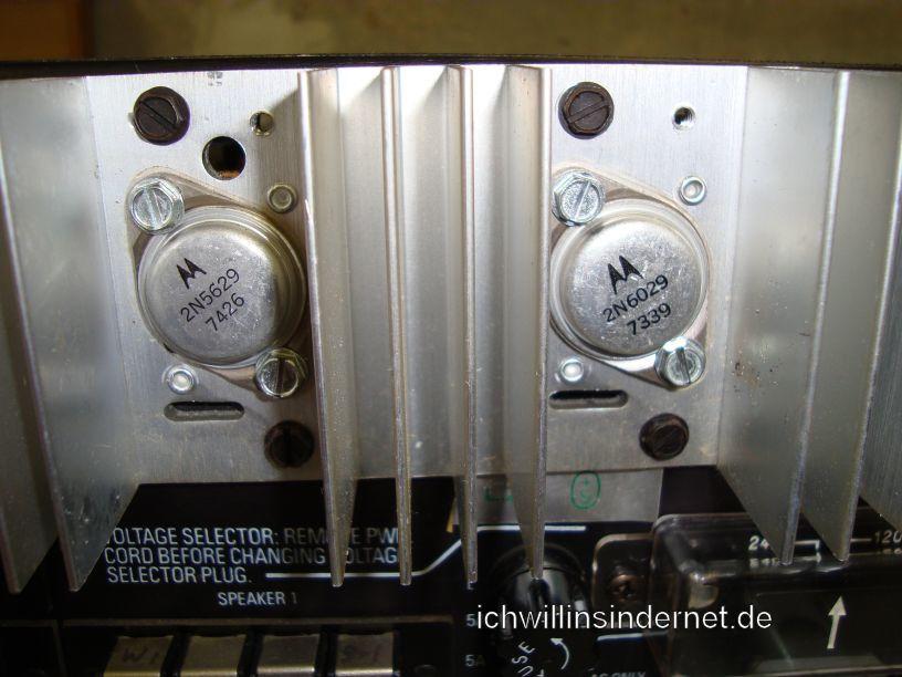 HH Scott R75S: Endstufentransistoren