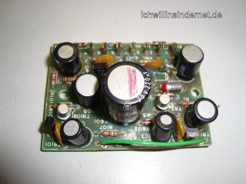 HH Scott R75S: Preamplifier Assembly alte Kondensatoren