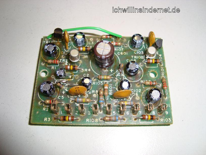 HH Scott R75S: Preamplifier Assembly neue Kondensatoren