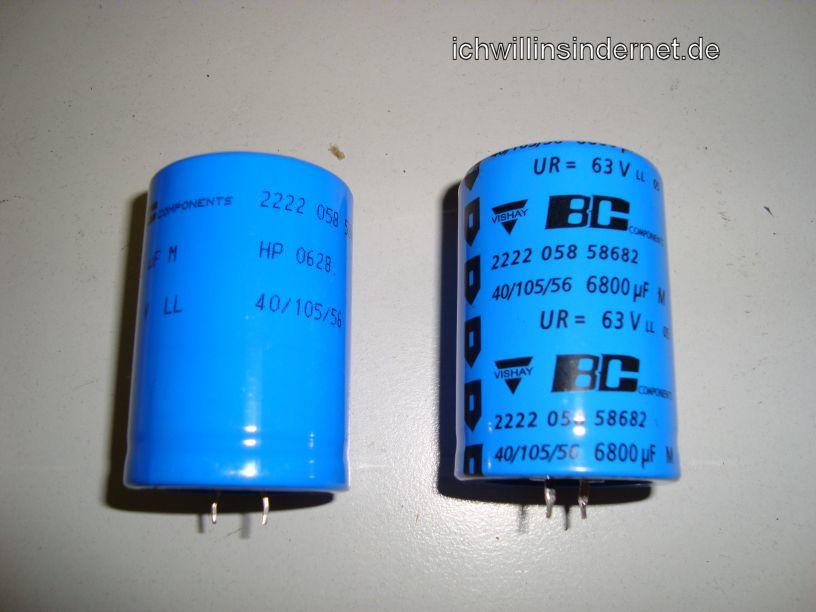 HH Scott R75S: neue Kondensatoren vor Einbau