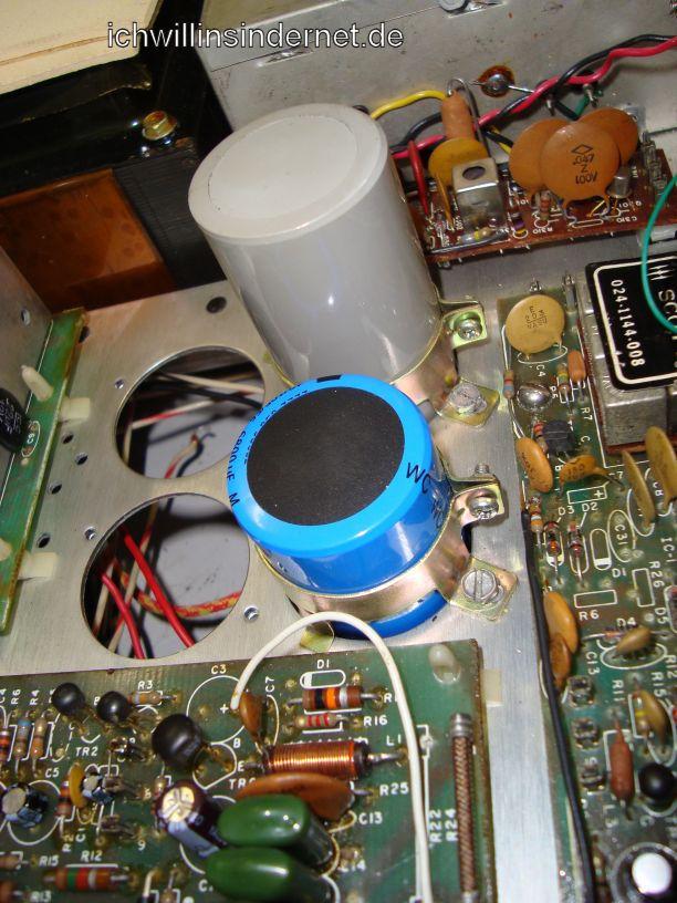 HH Scott R75S: Vergleich alte und neue Kondensatoren