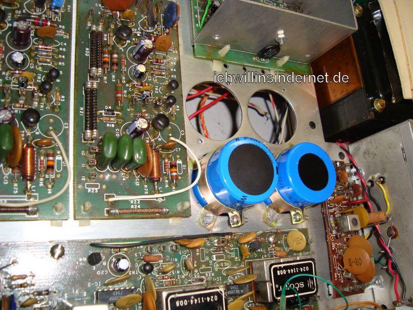 HH Scott R75S: neue Kondensatoren nach Einbau