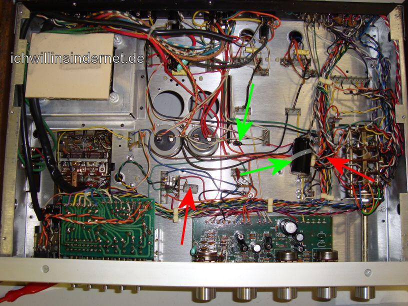 HH Scott R75S: alte Kondensatoren am Chassis
