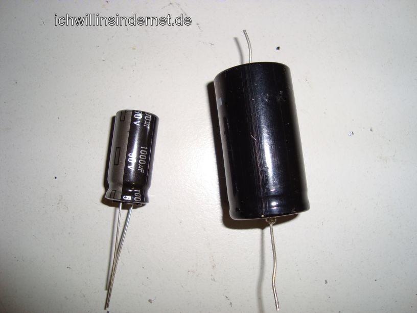 HH Scott R75S: Vergleich alter und neuer Kondensator