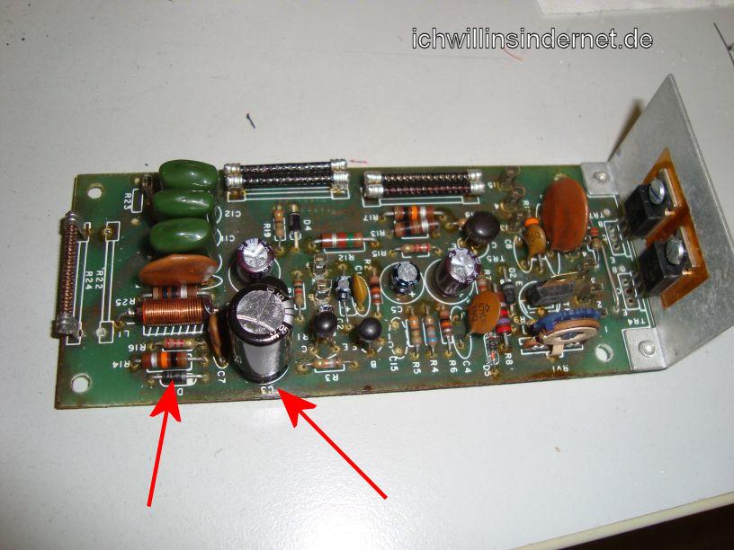 HH Scott R75S: neuer Kondensator und Diode