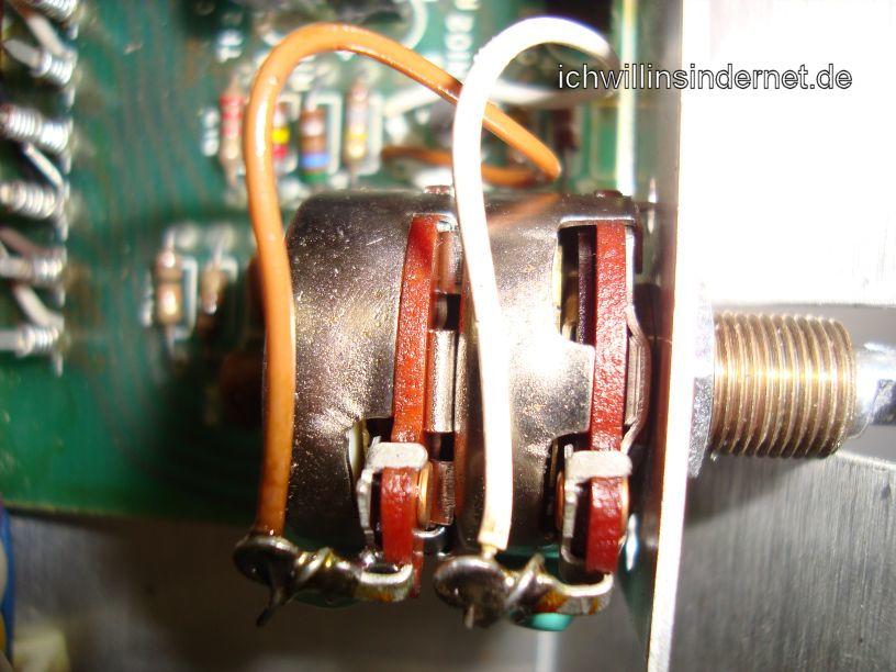 Scott R75S Receiver: Lautstärkepoti eingebaut