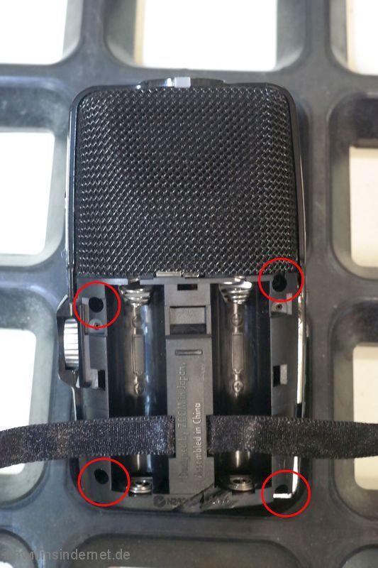 Zoom H2n Handy Recorder: Gehäuseschrauben